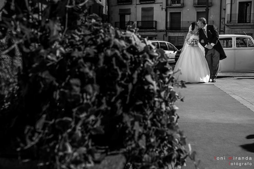 Novia entrando a Palau Cocentaina