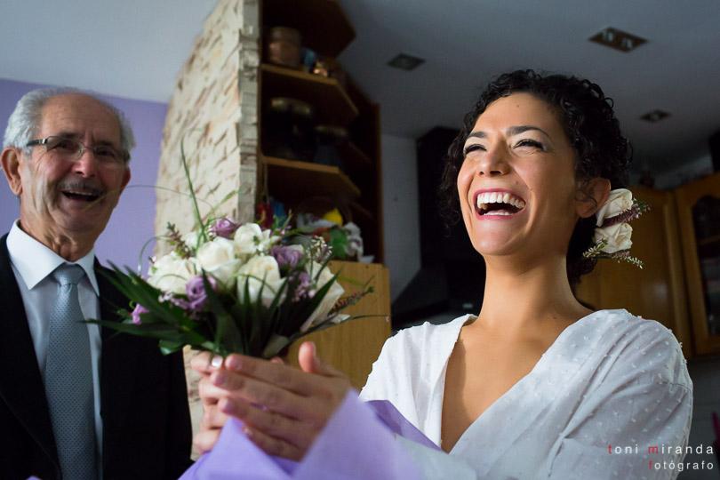 Novia con ramo bouquet