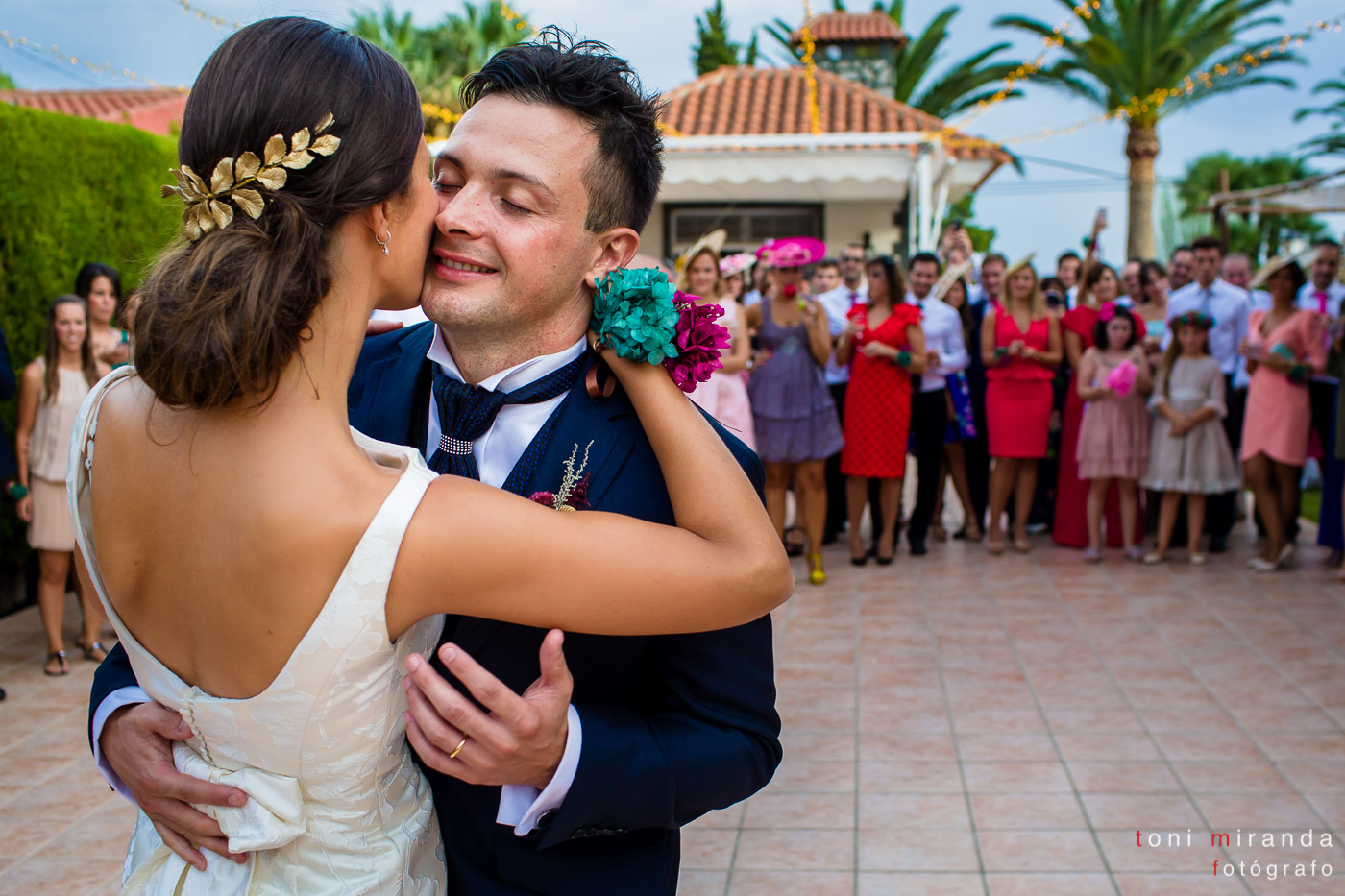 Baile de novios en banquete de boda en Aspe